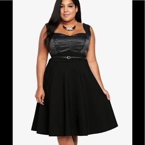 TORRID Polka Dot Swing Dress